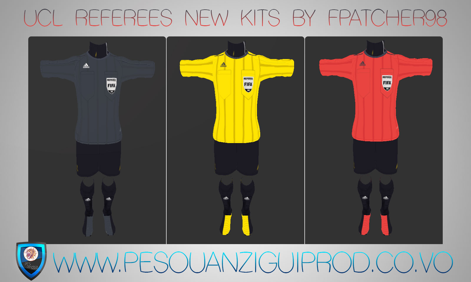 Pes 2013 UEFA CL Referees Kits 2015-2016 By Fpatcher98