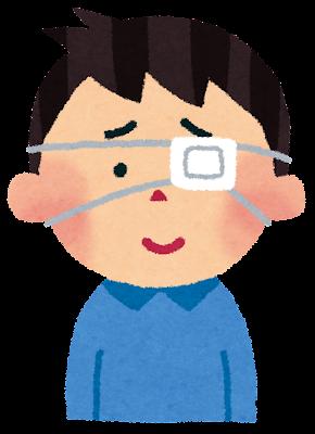 眼帯をつけた男性のイラスト