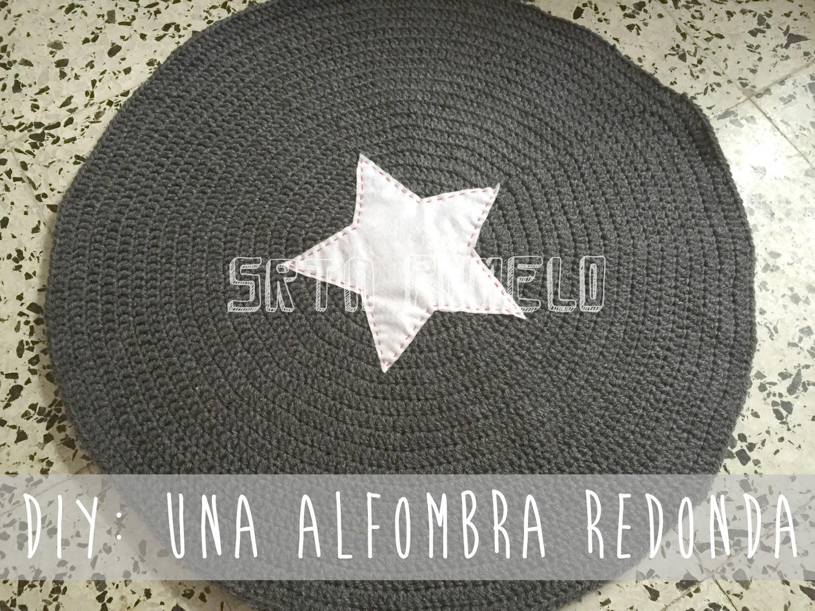 Srta pomelo diy una alfombra redonda tejida a crochet - Alfombras redondas ...