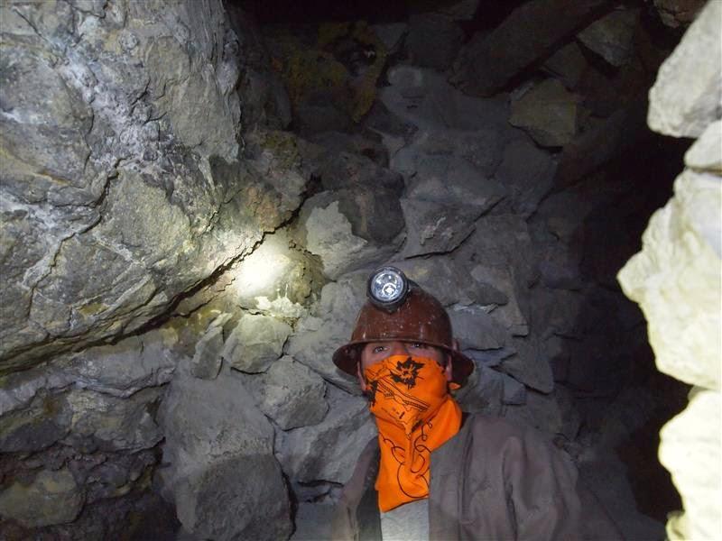 Txemi en las minas del Cerro Rico - Potosí