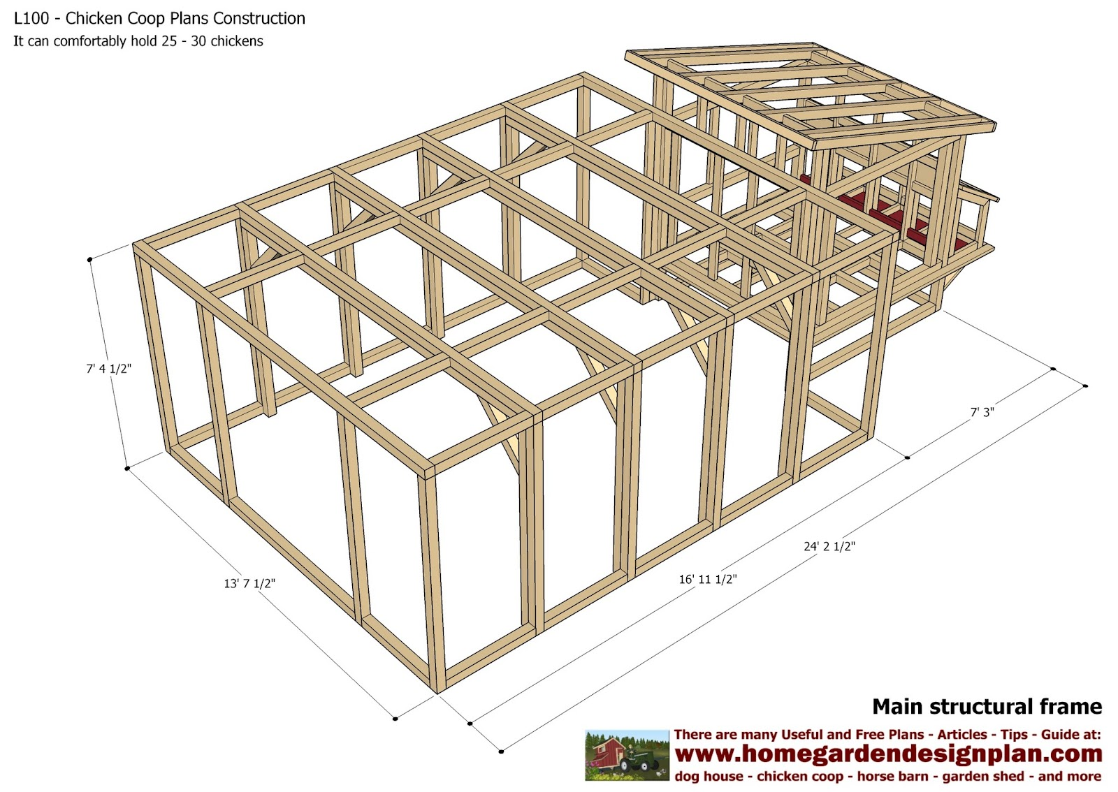 Hobby chicken building a chicken coop in pdf format most for Free coop plans
