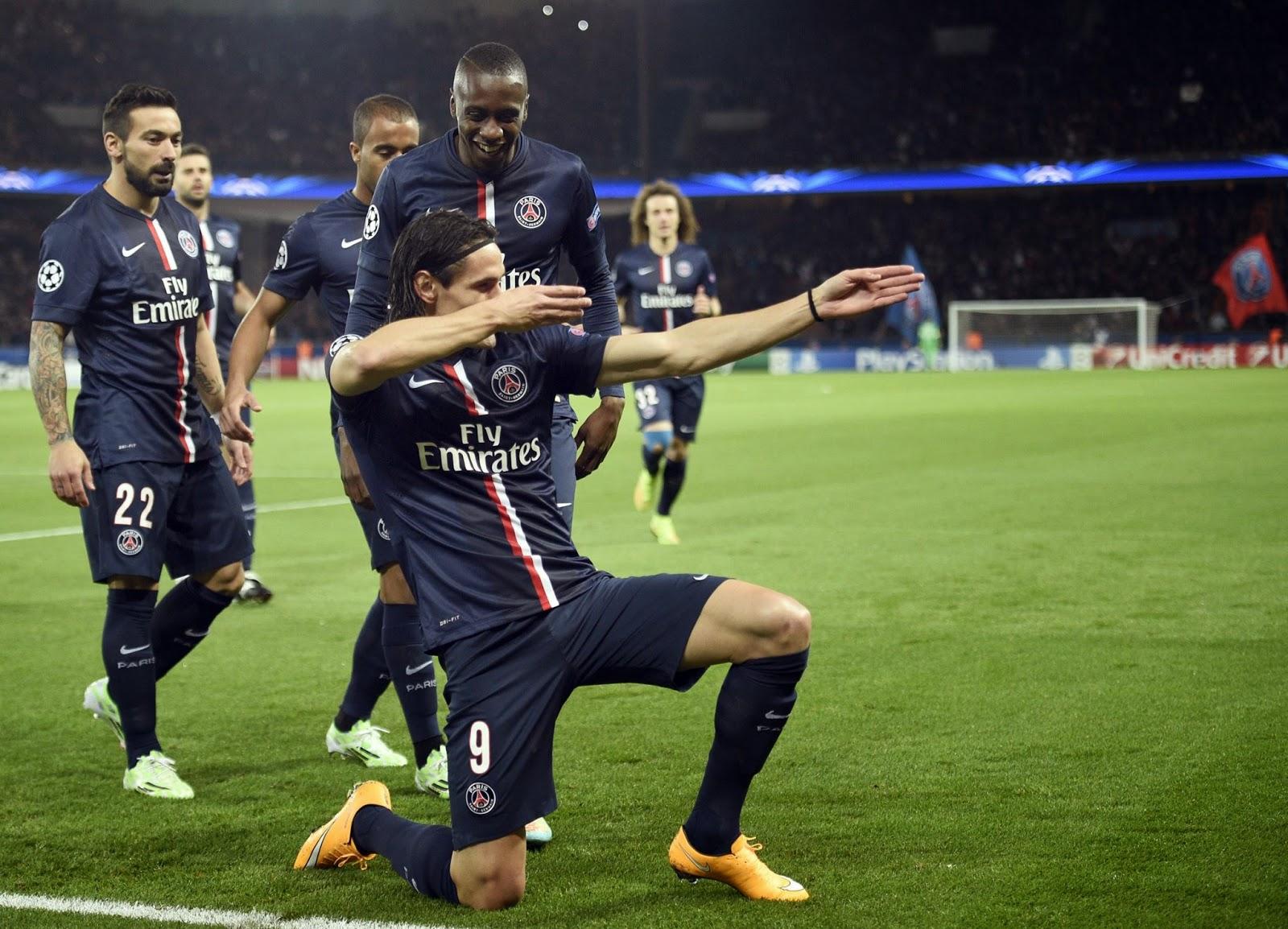 Foto Cavani autore del gol della vittoria del PSG