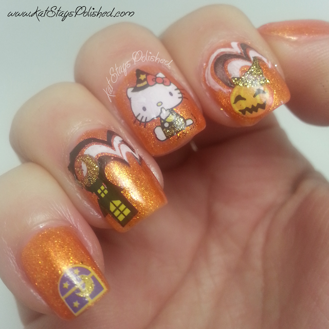kkCenterHK - Hello Kitty Halloween Manicure - JulieG Beach Bonfire