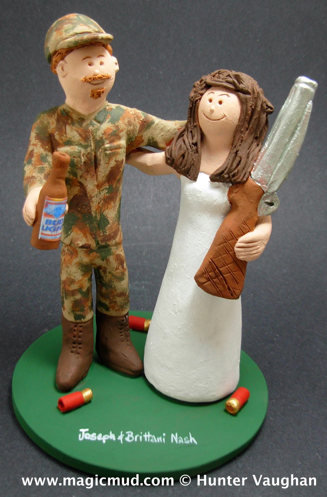 Hunting Bride Wedding Cake Topper