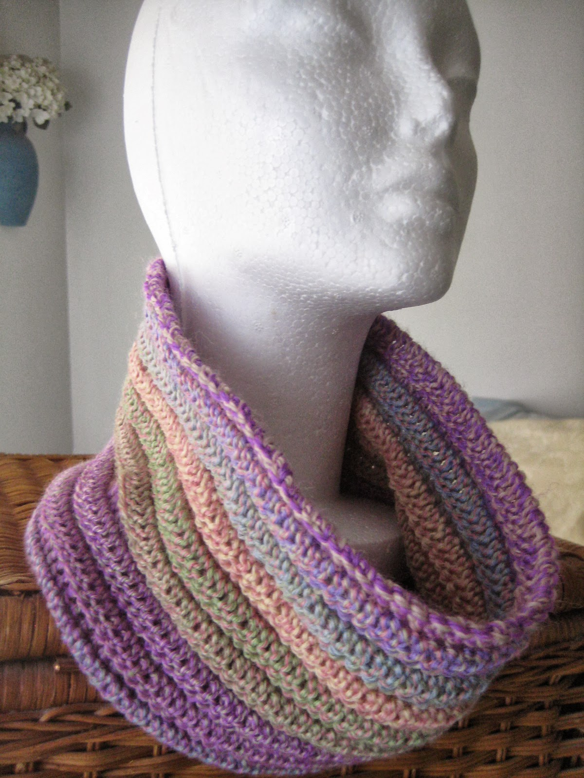 Crocheting Crazy : The Crochet Caretaker: Crazy Cowls! With a free pattern!