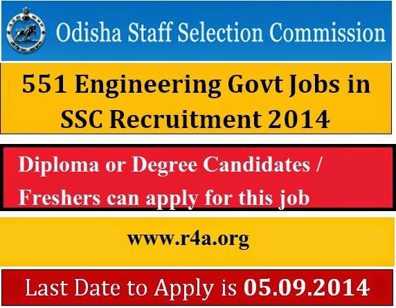 551 Civil Engineer Jobs at SSC Odisha
