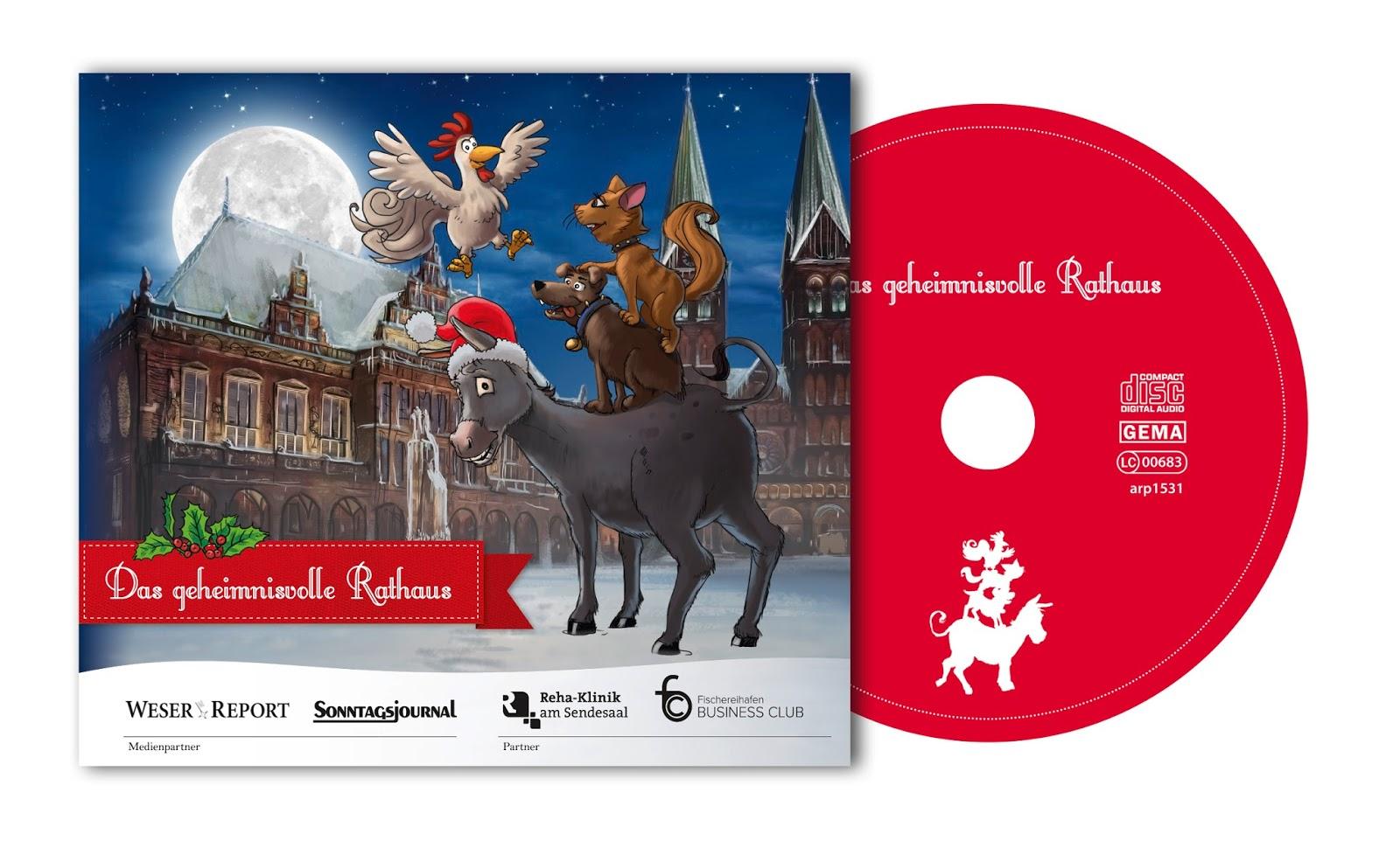 weihnachts cd abenteuer der stadtmusikanten im rathaus. Black Bedroom Furniture Sets. Home Design Ideas