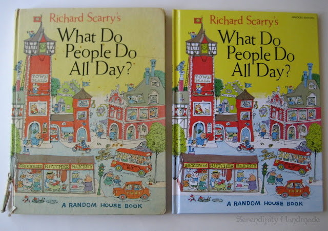 What Do People Do All Day, 1968 vs 1979 abrdiged version, at Serendipity Handmade