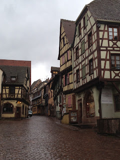 Riquewihr high street view.