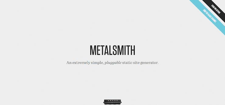 Metalsmith platform for static websites