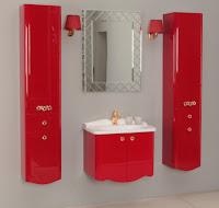 Новая коллекция мебели для ванной комнаты Акватон Венеция - бордо