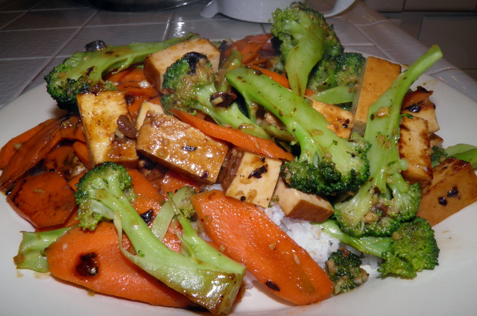 Stir Fry Tofu, Broccoli, and Carrots w/ Black Bean Sauce | Cook It ...