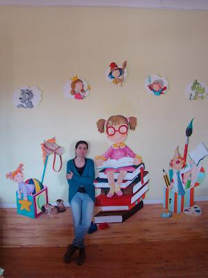 Mural na Biblioteca Municipal de Moura