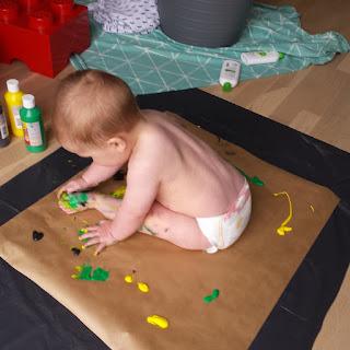 ondeugendespruit verven baby