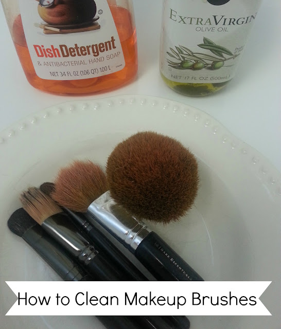 how to clean your makeup brushes with olive oil