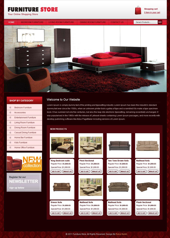 Free amazing website templates free furniture website for Furniture design site