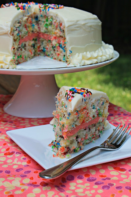 Carolina Charm Easy Funfetti Layered Birthday Cake