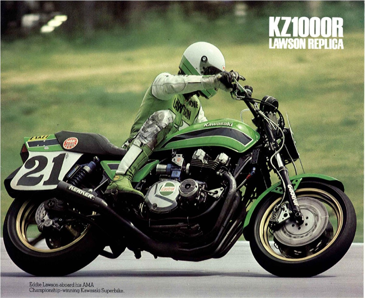 Racing Caf 232 Vintage Brochures Kawasaki Kz 1000r Lawson
