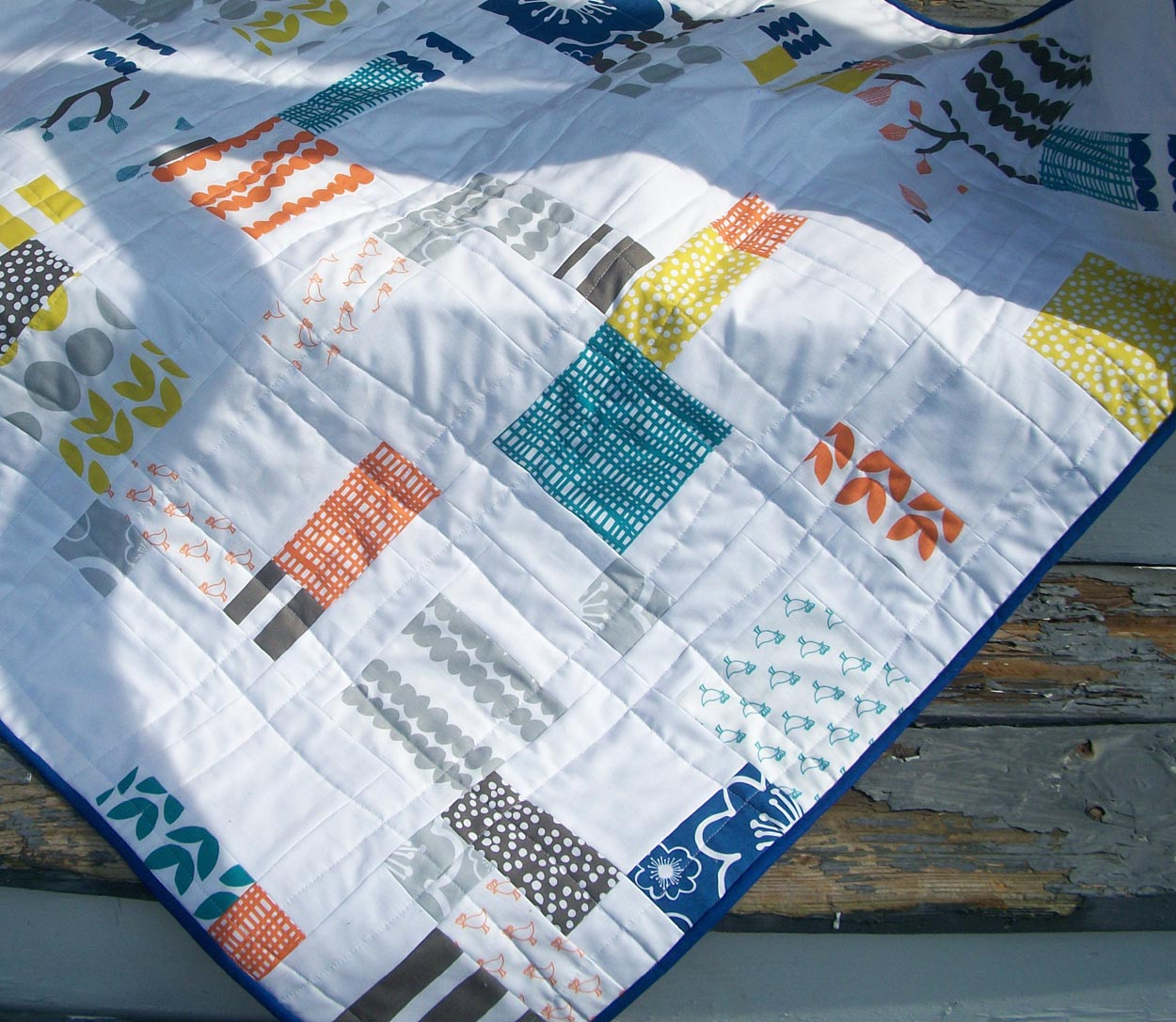 the prints in this quilt