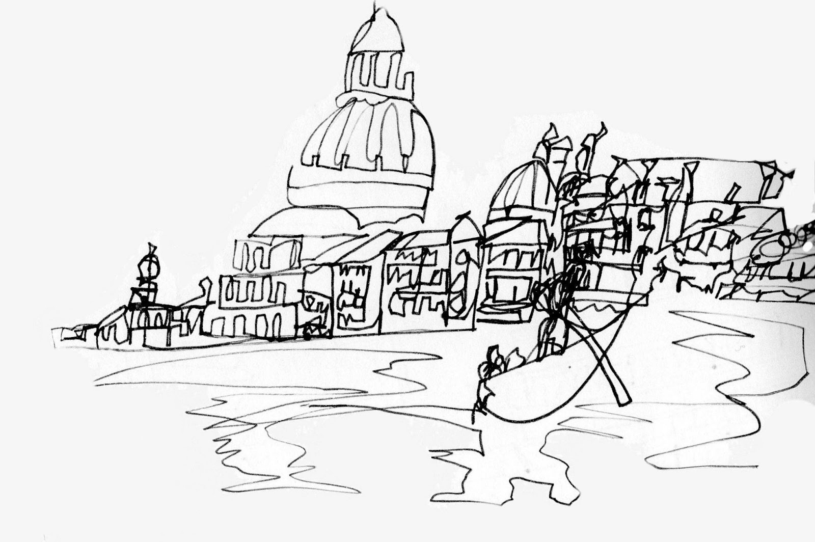 Line Drawing Venice : Mandeelee s art