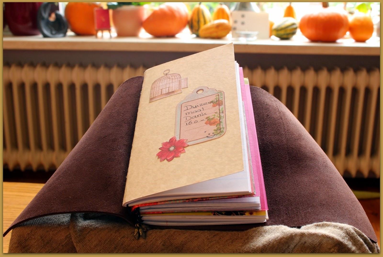 Midori fauxdori Travelers Notebook regular size open