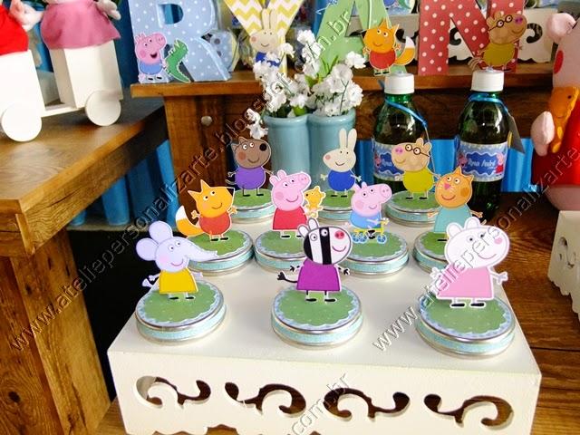 Decoração festa infantil Peppa Pig provençal