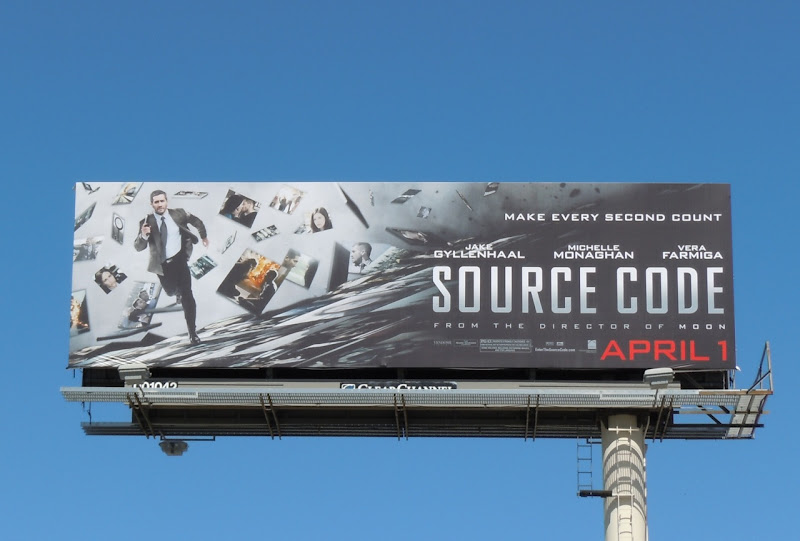 Source Code movie billboard
