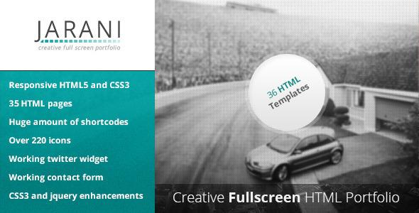 ThemeForest - Jarani - Creative Full Screen Portfolio HTML