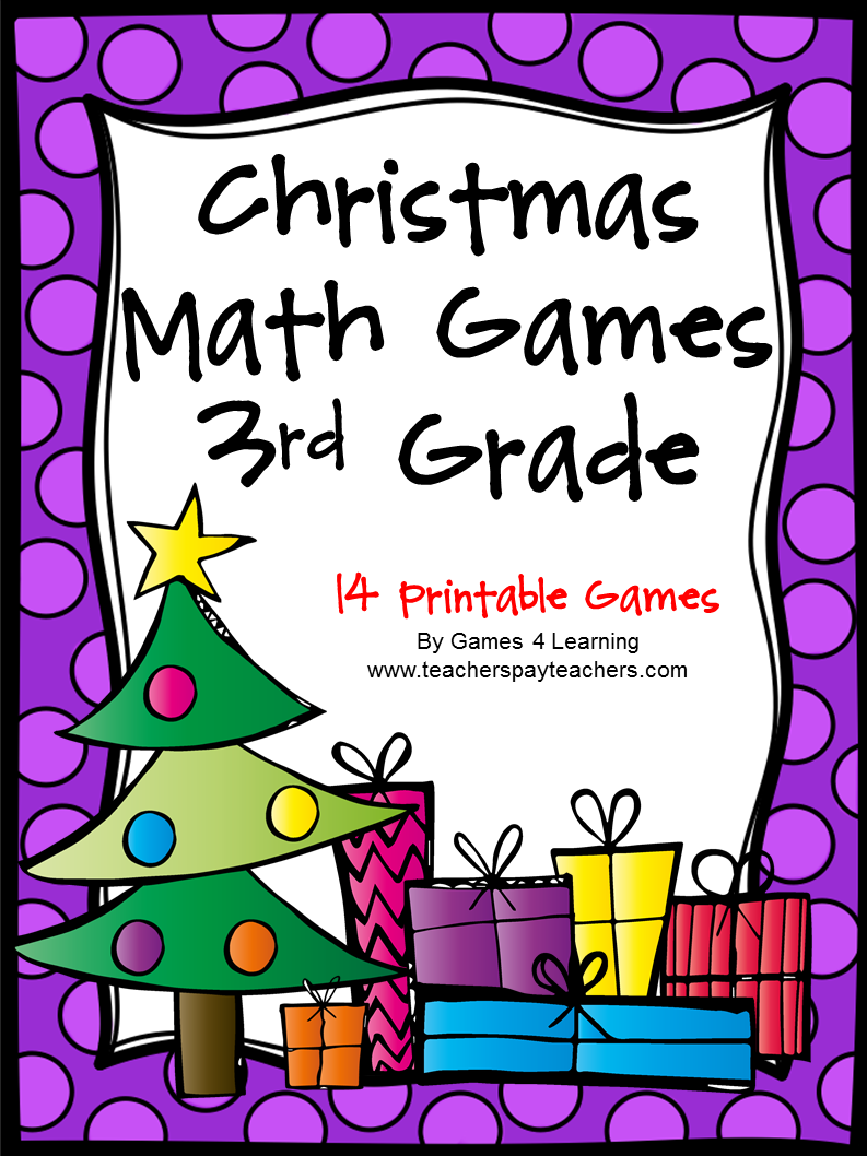 Fun Games 4 Learning No Prep Christmas Math Freebies – Christmas Math Worksheets 3rd Grade