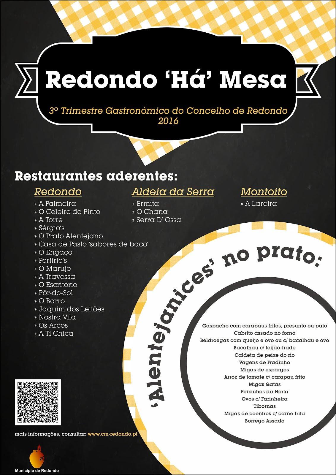 """Redondo """"Há"""" Mesa é a divulgação que se impunha em torno da riqueza e das memórias gastronómicas do"""