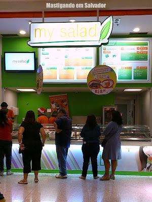 My Salad: Fachada da loja do Salvador Norte Shopping