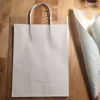 White craft bag and contact paper