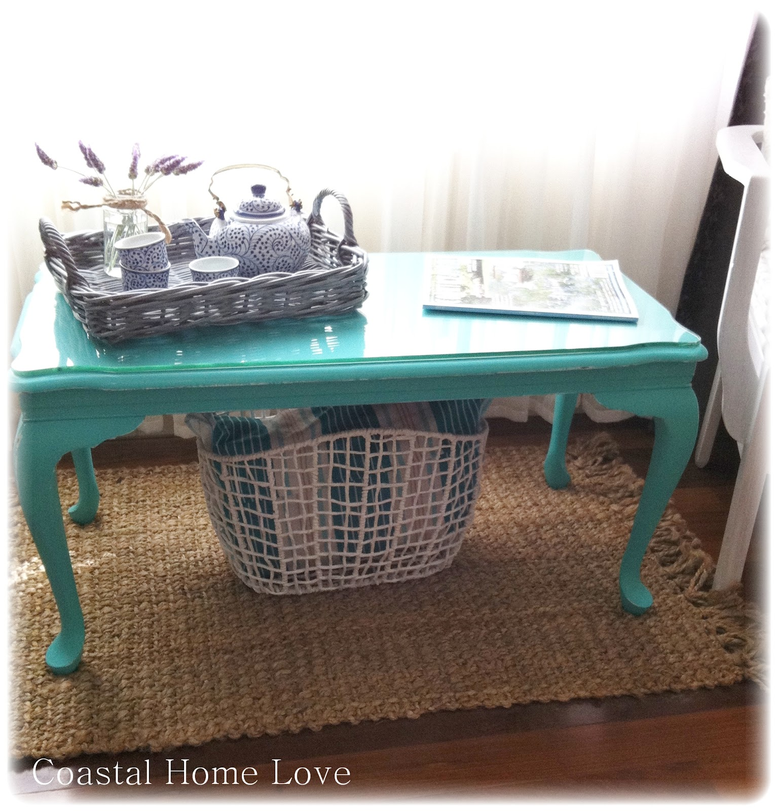 Coastal Home Love 50 Shades Of Turquoise A Coffee Table Makeover