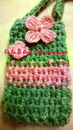 bolsa para móvil y flore