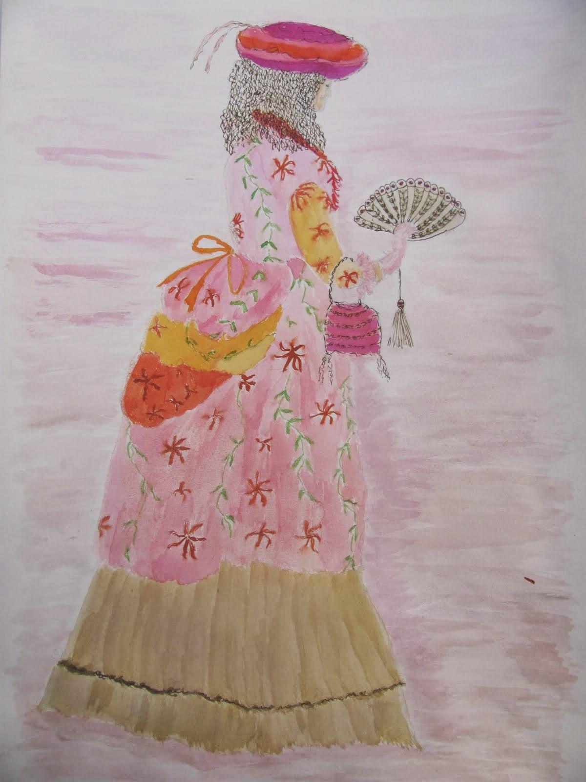 Dame uit de 18e eeuw
