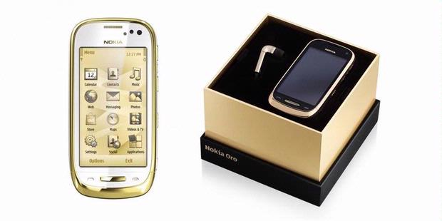Nokia Oro Gold-Sapphire Crystals