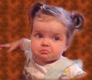 Cute Baby Girl Feeling Sad and Going to Cry Picture