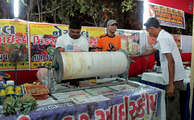 ice cream machine in Vadodara fest