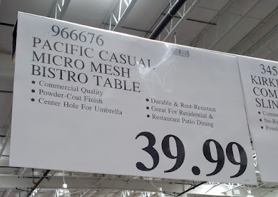 Deal for the Pacific Casual Micro Mesh Dining Bistro Table at Costco