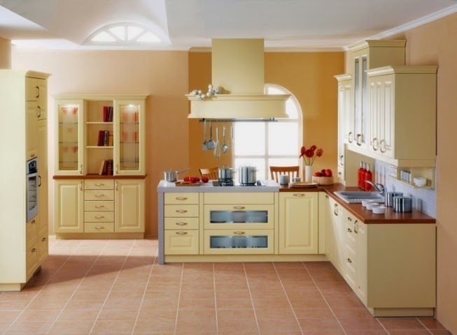Wall paint ideas for kitchen for Small kitchen paint ideas