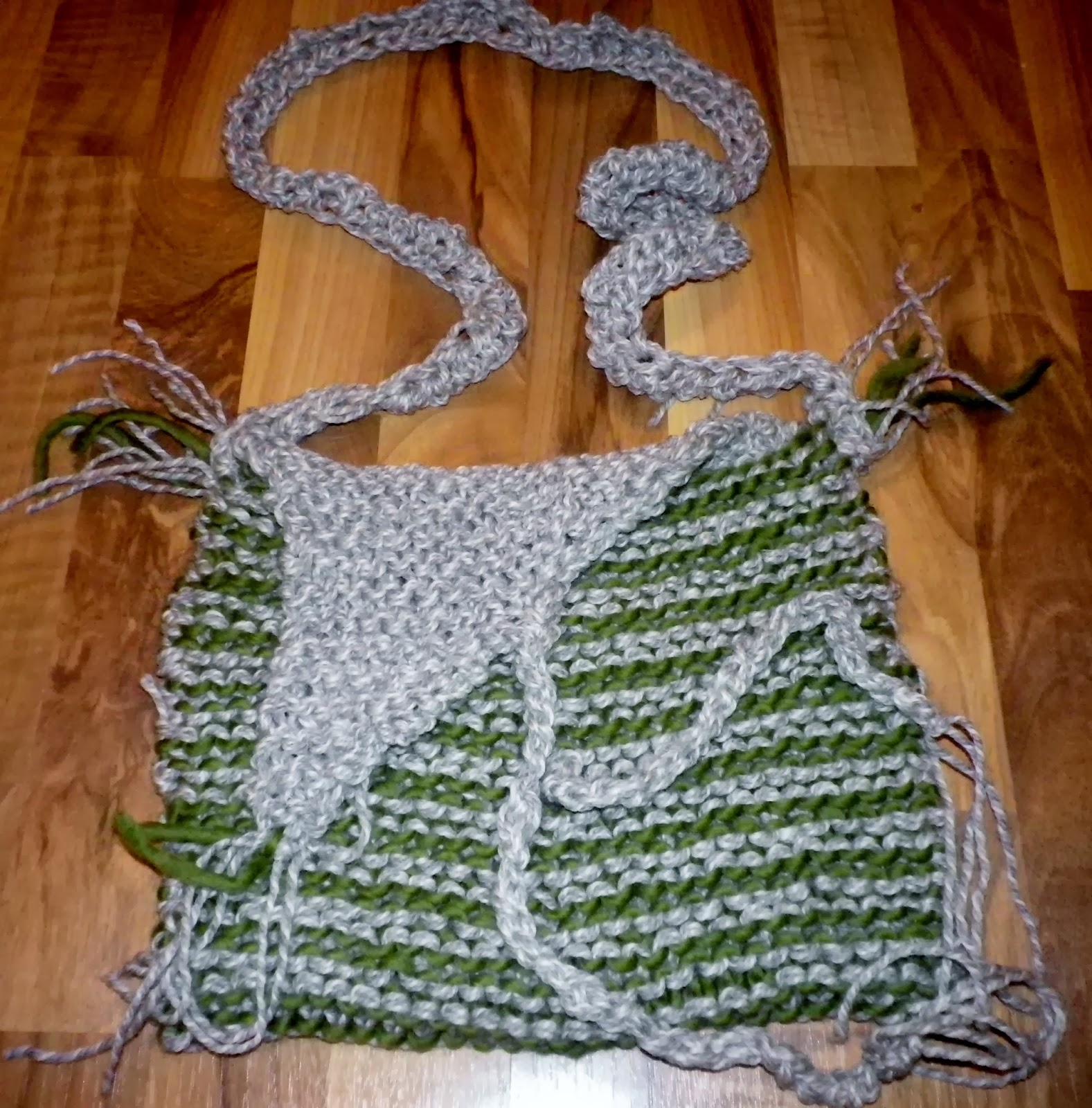 Knit  Druid bag, before felting