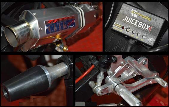 Sentuhan Modifikasi Motor Balap Standar Honda CB150R title=