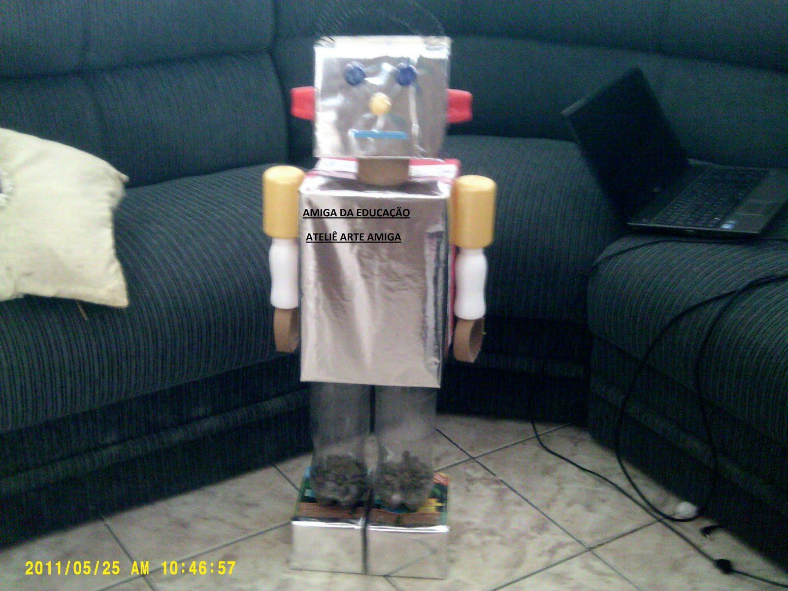 Amiga Da Educação Amiga Da Educação Aprova Reciclagem Robô De