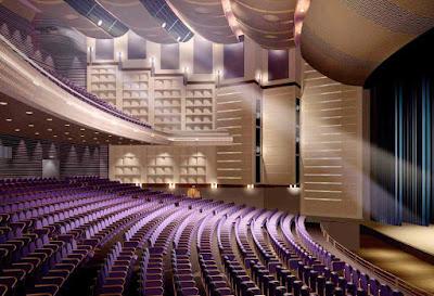 Nhà hát được ốp bằng tấm polyester