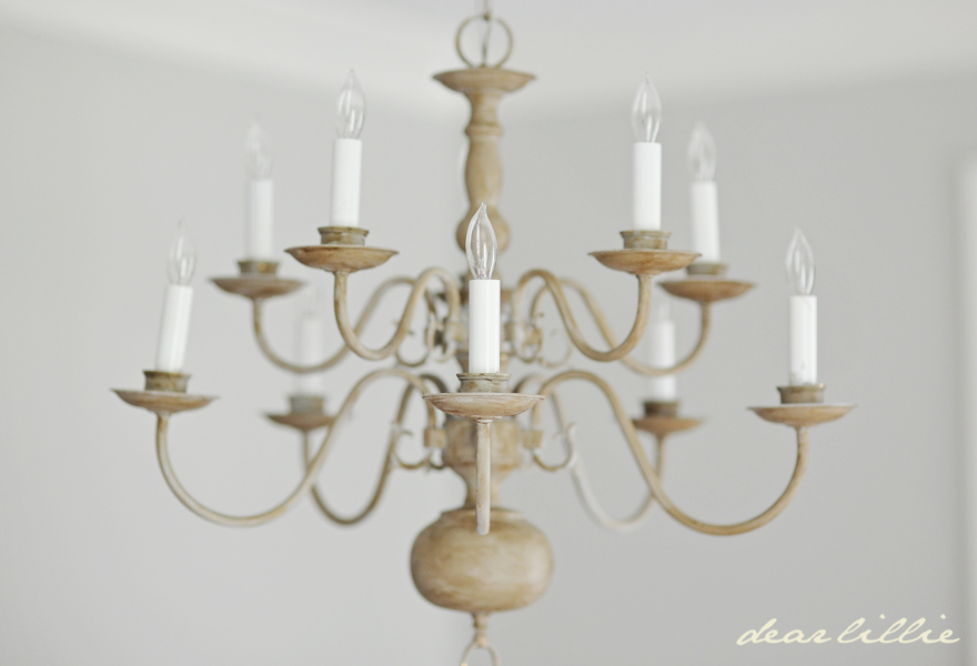 Dear Lillie: Making Over a Chandelier with Chalk Paint:Making Over a Chandelier with Chalk Paint,Lighting