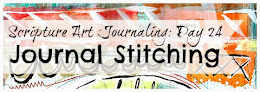 Scripture Art Journaling Day 24: Journal Stitching