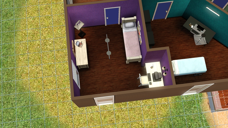 Chambre estrade fille for Chambre ado fille moderne violet