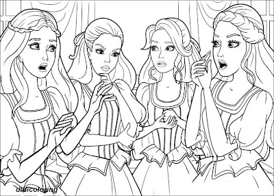 Three Musketeers Barbie Coloring Pages Printable