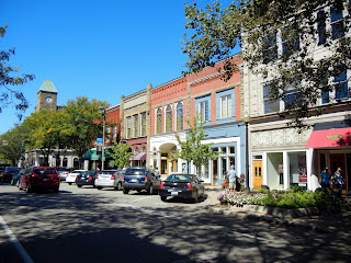 Walking around downtown Holland, Michigan