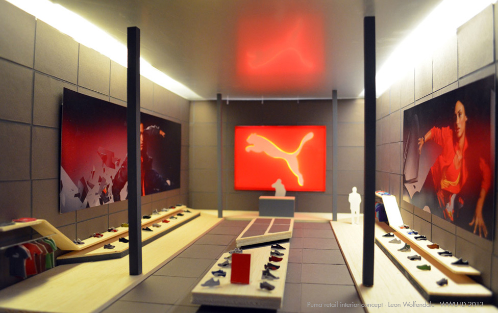 Leons Concept Interior For A Puma Retail Store Was Inspired By The Temples And Japanese Architecture He Is Senior Industrial Design Student At Western